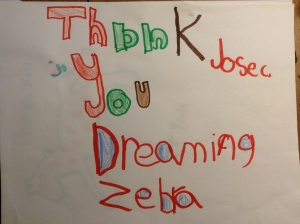 A Thank-You from one of the charities to which I donated for my December 2012 ride.