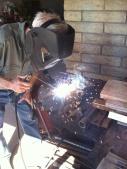 Matt welding away.
