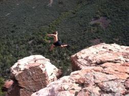 Rock-hopping in Slide Rock State Park, AZ.
