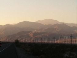 Landscape in California with the future in renewable energy.