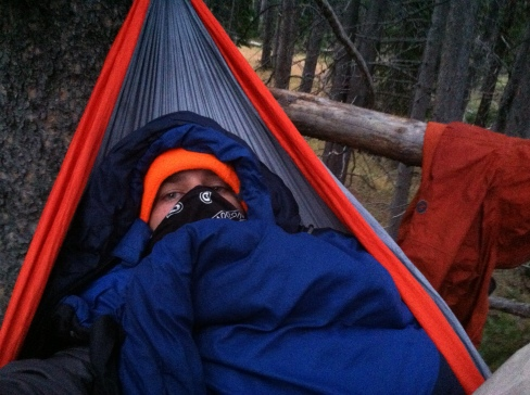 Hammocking up in the pines.