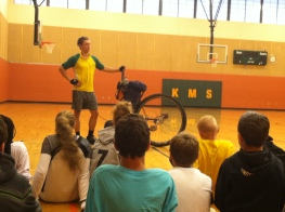 Kalispell Middle School, Kalispell, MT. First school of my Get Out There program.